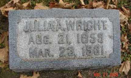 WRIGHT, JULIA A. - Minnehaha County, South Dakota   JULIA A. WRIGHT - South Dakota Gravestone Photos