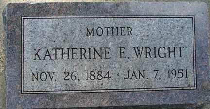 WRIGHT, KATHERINE E. - Minnehaha County, South Dakota | KATHERINE E. WRIGHT - South Dakota Gravestone Photos
