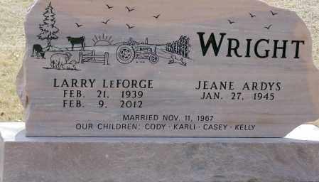 WRIGHT, LARRY LEFORGE - Minnehaha County, South Dakota | LARRY LEFORGE WRIGHT - South Dakota Gravestone Photos