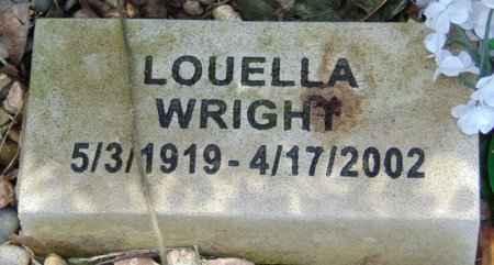 WRIGHT, LOUELLA - Minnehaha County, South Dakota   LOUELLA WRIGHT - South Dakota Gravestone Photos