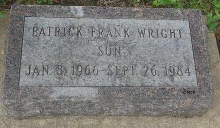 WRIGHT, PATRICK FRANK - Minnehaha County, South Dakota | PATRICK FRANK WRIGHT - South Dakota Gravestone Photos