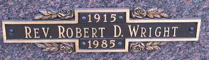 WRIGHT, ROBERT D., REV. - Minnehaha County, South Dakota | ROBERT D., REV. WRIGHT - South Dakota Gravestone Photos