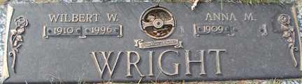 WRIGHT, ANNA M. - Minnehaha County, South Dakota | ANNA M. WRIGHT - South Dakota Gravestone Photos