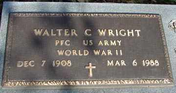 WRIGHT, WALTER C. (WWII) - Minnehaha County, South Dakota | WALTER C. (WWII) WRIGHT - South Dakota Gravestone Photos