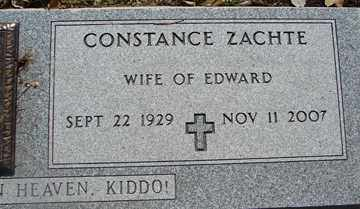BAILEY ZACHTE, CONSTANCE - Minnehaha County, South Dakota | CONSTANCE BAILEY ZACHTE - South Dakota Gravestone Photos