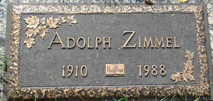 ZIMMEL, ADOLPH - Minnehaha County, South Dakota   ADOLPH ZIMMEL - South Dakota Gravestone Photos