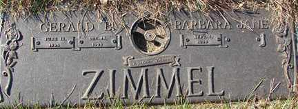 ZIMMEL, BARBARA JANE - Minnehaha County, South Dakota | BARBARA JANE ZIMMEL - South Dakota Gravestone Photos