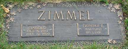 ZIMMEL, FLORENCE F. - Minnehaha County, South Dakota | FLORENCE F. ZIMMEL - South Dakota Gravestone Photos