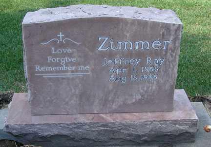 ZIMMER, JEFFREY RAY - Minnehaha County, South Dakota | JEFFREY RAY ZIMMER - South Dakota Gravestone Photos
