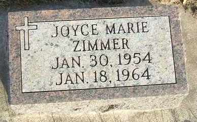 ZIMMER, JOYCE MARIE - Minnehaha County, South Dakota | JOYCE MARIE ZIMMER - South Dakota Gravestone Photos