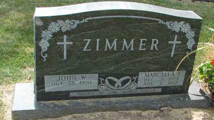ZIMMER, MARCELLA I. - Minnehaha County, South Dakota | MARCELLA I. ZIMMER - South Dakota Gravestone Photos