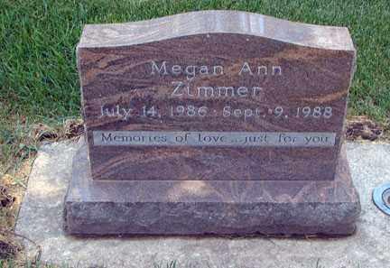 ZIMMER, MEGAN ANN - Minnehaha County, South Dakota | MEGAN ANN ZIMMER - South Dakota Gravestone Photos