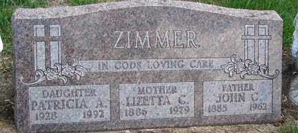 ZIMMER, PATIRCIA A. - Minnehaha County, South Dakota | PATIRCIA A. ZIMMER - South Dakota Gravestone Photos