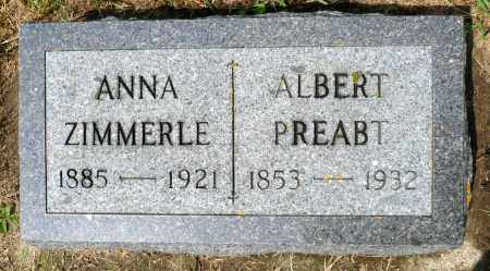 ZIMMERLE, ALBERT - Minnehaha County, South Dakota | ALBERT ZIMMERLE - South Dakota Gravestone Photos