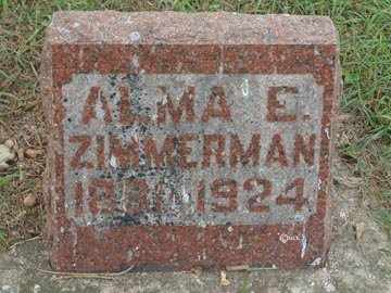 ZIMMERMAN, ALMA E. - Minnehaha County, South Dakota | ALMA E. ZIMMERMAN - South Dakota Gravestone Photos