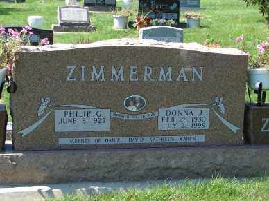 ZIMMERMAN, DONNA J. - Minnehaha County, South Dakota   DONNA J. ZIMMERMAN - South Dakota Gravestone Photos