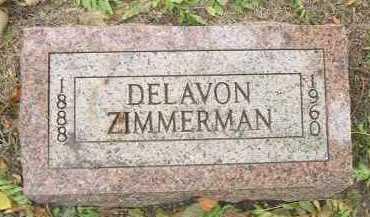 ZIMMERMAN, DELAVON - Minnehaha County, South Dakota   DELAVON ZIMMERMAN - South Dakota Gravestone Photos