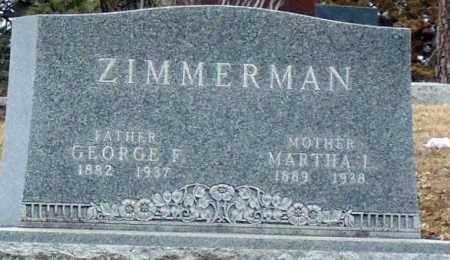 ZIMMERMAN, GEORGE F. - Minnehaha County, South Dakota | GEORGE F. ZIMMERMAN - South Dakota Gravestone Photos