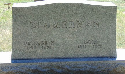 ZIMMERMAN, GEORGE H. - Minnehaha County, South Dakota | GEORGE H. ZIMMERMAN - South Dakota Gravestone Photos