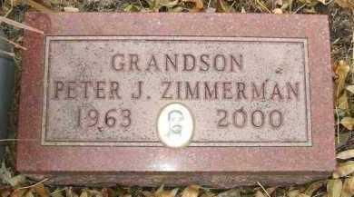 ZIMMERMAN, PETER J. - Minnehaha County, South Dakota | PETER J. ZIMMERMAN - South Dakota Gravestone Photos