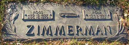 ZIMMERMAN, ROSS - Minnehaha County, South Dakota | ROSS ZIMMERMAN - South Dakota Gravestone Photos
