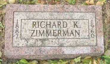ZIMMERMAN, RICHARD K. - Minnehaha County, South Dakota | RICHARD K. ZIMMERMAN - South Dakota Gravestone Photos