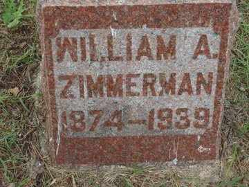 ZIMMERMAN, WILLIAM A. - Minnehaha County, South Dakota | WILLIAM A. ZIMMERMAN - South Dakota Gravestone Photos