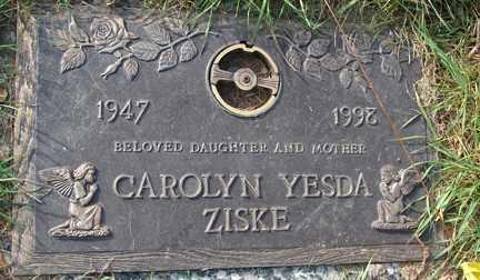 ZISKE, CAROLYN - Minnehaha County, South Dakota | CAROLYN ZISKE - South Dakota Gravestone Photos