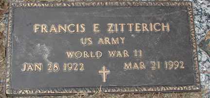 ZITTERICH, FRANCIS E. - Minnehaha County, South Dakota   FRANCIS E. ZITTERICH - South Dakota Gravestone Photos