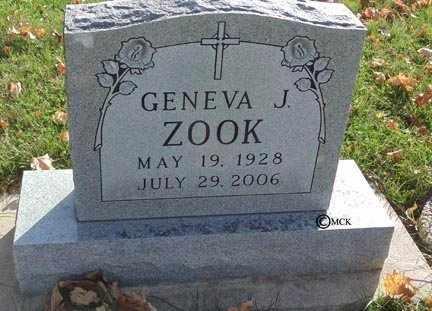 ZOOK, GENEVA J. - Minnehaha County, South Dakota   GENEVA J. ZOOK - South Dakota Gravestone Photos