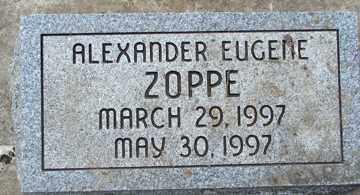 ZOPPE, ALEXANDER EUGENE - Minnehaha County, South Dakota | ALEXANDER EUGENE ZOPPE - South Dakota Gravestone Photos