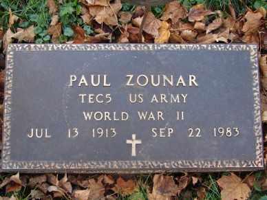ZOUNAR, PAUL - Minnehaha County, South Dakota | PAUL ZOUNAR - South Dakota Gravestone Photos