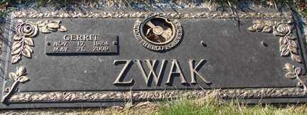 ZWAK, GERRIT - Minnehaha County, South Dakota | GERRIT ZWAK - South Dakota Gravestone Photos