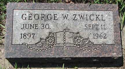 ZWICKL, GEORGE W. - Minnehaha County, South Dakota   GEORGE W. ZWICKL - South Dakota Gravestone Photos