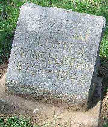 ZWINGELBERG, WILLIAM J. - Minnehaha County, South Dakota | WILLIAM J. ZWINGELBERG - South Dakota Gravestone Photos