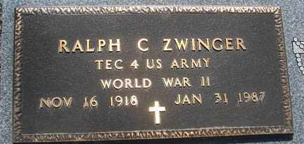 ZWINGER, RALPH C. - Minnehaha County, South Dakota | RALPH C. ZWINGER - South Dakota Gravestone Photos