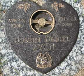 ZYCH, JOSEPH DANIEL - Minnehaha County, South Dakota | JOSEPH DANIEL ZYCH - South Dakota Gravestone Photos