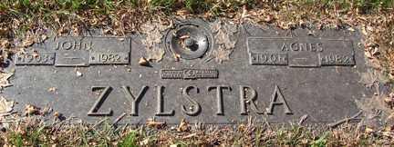 ZYLSTRA, AGNES - Minnehaha County, South Dakota | AGNES ZYLSTRA - South Dakota Gravestone Photos
