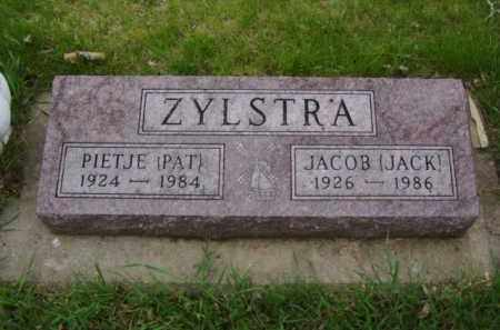 "ZYLSTRA, JACOB ""JAKE"" - Minnehaha County, South Dakota | JACOB ""JAKE"" ZYLSTRA - South Dakota Gravestone Photos"