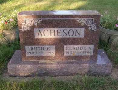 ACHESON, CLAUDE A - Moody County, South Dakota | CLAUDE A ACHESON - South Dakota Gravestone Photos