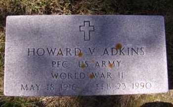 ADKINS, HOWARD V - Moody County, South Dakota | HOWARD V ADKINS - South Dakota Gravestone Photos