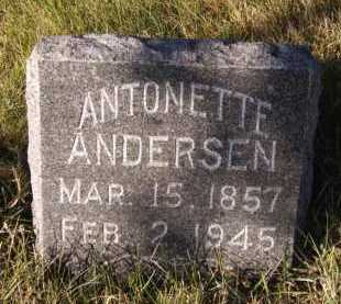 ANDERSEN, ANTONETTE - Moody County, South Dakota | ANTONETTE ANDERSEN - South Dakota Gravestone Photos