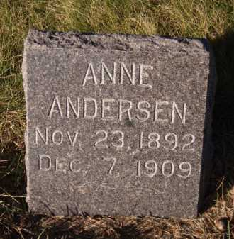 ANDERSEN, ANNE - Moody County, South Dakota   ANNE ANDERSEN - South Dakota Gravestone Photos