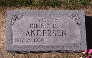 ANDERSEN, BOBINETTE K - Moody County, South Dakota | BOBINETTE K ANDERSEN - South Dakota Gravestone Photos