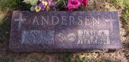 ANDERSEN, JESSE A - Moody County, South Dakota | JESSE A ANDERSEN - South Dakota Gravestone Photos