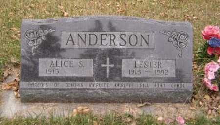 ANDERSON, ALICE S - Moody County, South Dakota | ALICE S ANDERSON - South Dakota Gravestone Photos