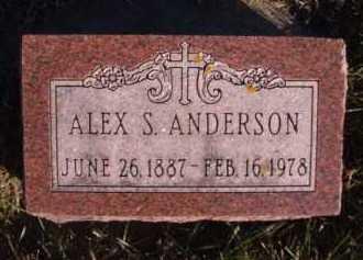 ANDERSON, ALEX S - Moody County, South Dakota | ALEX S ANDERSON - South Dakota Gravestone Photos