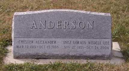 ANDERSON, CHESTER ALEXANDER - Moody County, South Dakota | CHESTER ALEXANDER ANDERSON - South Dakota Gravestone Photos