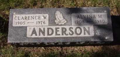 ANDERSON, ALVINA M - Moody County, South Dakota | ALVINA M ANDERSON - South Dakota Gravestone Photos