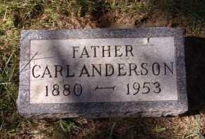 ANDERSON, CARL - Moody County, South Dakota | CARL ANDERSON - South Dakota Gravestone Photos